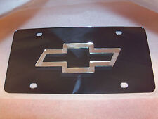 Chevy Laser License Plate Black/Silver NEW!!