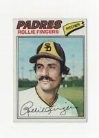 1977 Topps Rollie Fingers Baseball Card #523 San Diego Padres HOF