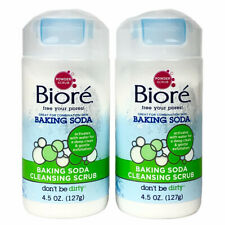 BIORE x2 Baking Soda Acne Cleansing Scrub Deep Clean Pores Exfoliate Blackhead