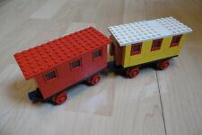 LEGO - EISENBAHN -- Waggon -- 2 Stück -- Konvolut -- 70 er -- Alte Stücke --