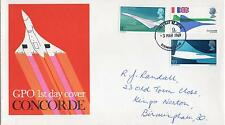 GB 1969 Concorde  FDC. One postage for multiple buys. Rx