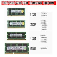 FOR Samsung 1GB/2GB/4GB DDR2 DDR3 200/204pin Notebook Laptop SODIMM Memory lot r
