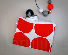 MARIMEKKO Cosmetics Purse Pouch Red White Make Up Bag Kivet print