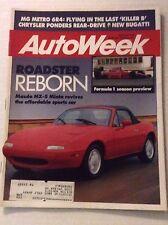 Autoweek Magazine Mazda MX-5 Miata Revive March 20, 1989 011617rh