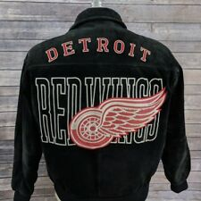 VTG Detroit Red Wings Western NHL Conference Mens Jacket Reversible Leather XL