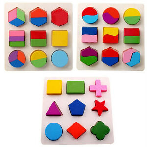 3D Wooden Toys Shape Sorter Puzzle Colorful Baby Toddler Buildings Toys Bett_ec