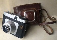 Vintage Collectible Retro Photo Camera Cecto-Phot In Original Leather Case