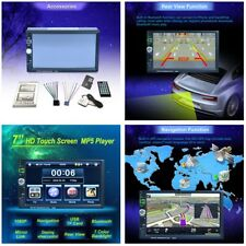 7'' HD Auto Car Bluetooth MP5 Player GPS Navigation USB AUX FM Radio Rear Camera