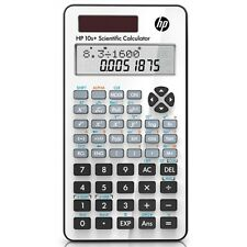 HP 10+2 Digit White Scientific Calculator with Hard Case for Science and Math