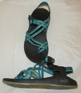 Chaco Turquoise Blue and Green Sport Sandals Size 9 Women's