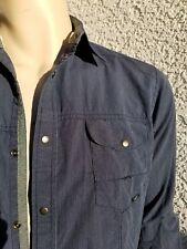 Coastal mens medium long sleeve snap button shirt