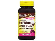 60 CAPSULES RED WINE EXTRACT & GRAPE SEED VITAMIN C CAPSULES Healthy Heart