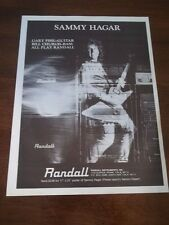1983 Vintage Ad for RANDALL AMPS SAMMY HAGAR WITH GUITAR VAN HALEN
