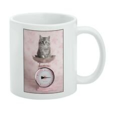 Siberian Cat Kitten Tipping The Scale White Mug