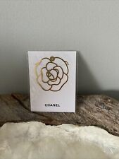More details for new rare chanel camellia parfume bookmark bookplate with original packing