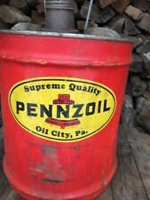 VINTAGE PENNZOIL 5 GALLON METAL SERVICE STATION OIL CAN Gas Station NR AUCTION