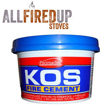 500g Tub Of Black Heat Resistant Fire Cement For Wood Burning Multifuel Stoves
