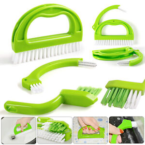3 in 1 Tile Grout Cleaning Brush Mould Remover Narrow Stiff Stain Cleaner
