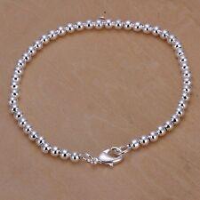 """Women's Mens Unisex 925 Sterling Silver Bracelet 8"""" L25"""