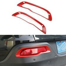 fit 2014-2018 Jeep Cherokee Red Rear Bumper Reflector Fog lamp Light Cover Trim