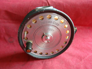 """RARE PRESENTATION LEFT HAND WIND 3 3/4"""" ST. GEORGE TROUT/LIGHT SALMON FLY REEL"""