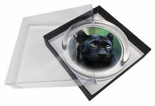 Black Panther Glass Paperweight in Gift Box Christmas Present, AT-1PW