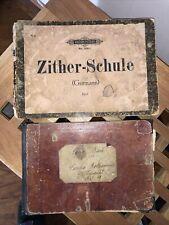 Antike Zither Notenbuch 1870/1921