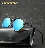 Men Women Polarized Sunglasses Outdoor Driving Fishing Round Retro Glasses New