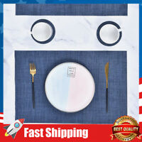 """Placemats for Dining Table,Stain Resistant Easy to Clean Set of 6 18"""" X 12"""""""