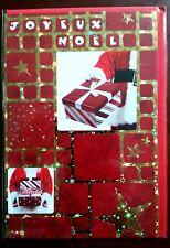 """H4) Carte """"Joyeux Noël"""" cadeaux (rouge)  + enveloppe - Neuf"""