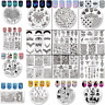 Nail Stamping Plates Nail Art Round Rectangle Image Plate Template Born Pretty