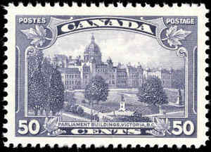 Canada Mint NH VF 50c Scott #226 1935 King George V Pictorial Stamp