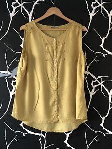 TU Mustard Yellow Top Size 16