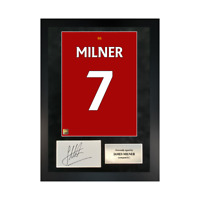 Authentic signed Framed James Milner Reds in Liverpool shirt Print