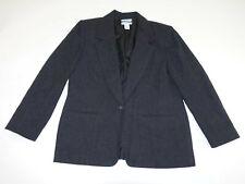 Pendleton Women's 1 Button Blazer Jacket Size 14 Charcoal Gray 100% Wool Coat