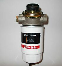 DIESEL FUEL FILTER ASSEMBLY WITH HAND PRIMER AND SCREW ON FILTER 14MM PORTS