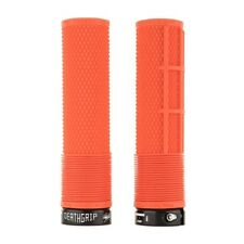 DMR Death Grip Flangeless Grips - Soft Brendog MTB Mountain Bike Downhill DH Orange Thick
