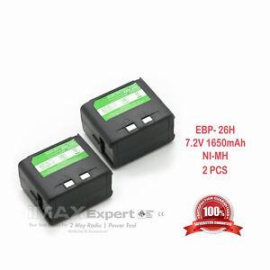 2 1650mAh EBP-20N EBP-24N EBP-26N Battery for ALINCO DJ-180 DJ-280 DJ-580 DJ-582