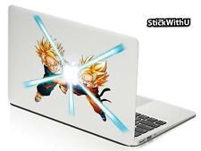 Macbook Air Pro Skin Sticker Decal Dragon Ball Z Anime Trunks Goten Glow bn411