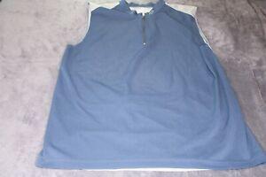 Fox Cycling Jersey Sleeveless XL , Gray And Navy, Half Zip