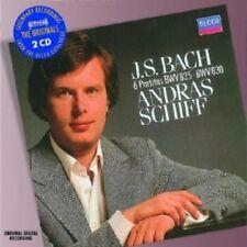 ANDRAS SCHIFF - PARTITEN 2 CD  39 TRACKS CLASSIC SOLO PIANO JS BACH  NEW+