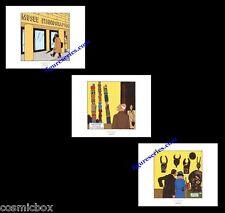Lot 3 Ex-libris TINTIN l'OREILLE CASSEE affiche Hergé triptyque figurine totem