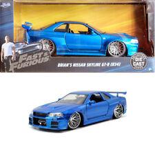 2002 Nissan Skyline GT-R R34 Fast and Furious Brian Blau 1:24 Jada Toys 97173