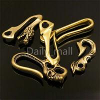 1 x Brass Belt U Hook Skull Dragon Fob clip Keychain Key Ring Wallet Chain Hook