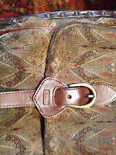Liberty Of London Vintage Brown Paisley Brocade Messenger Handbag