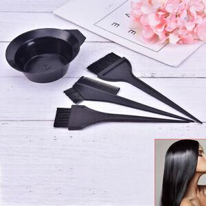 Hair Color Dye Bowl Comb Brushes Tool Kit Set Tint Coloring Dye Bowl Comb BrNIA