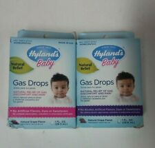 2 Hyland's Baby Gas Drops Natural Grape Flavor 1 fl oz Each