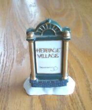 Dept 56 Porcelain Accessories #99538 Heritage Village Collection Sign