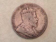 - Rare Canada 1905  George V Silver Half Dollar 50 Cents - Only 40,000 Minted