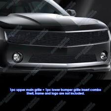 2010-2013 Chevy Camaro LT/LS V6 Phantom Black Billet Grille Grill Insert Combo
